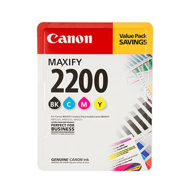 Canon PGI -2200 Black/Color Ink, 4-Pack