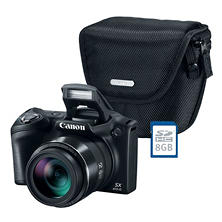 Canon PowerShot SX410 IS Digital Camera Bundle with 20MP, 40x Optical Zoom, Camera Bag and 8GB SDHC Card