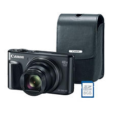 Canon PowerShot SX720 HS Digital Camera Bundle with 20.3MP, 40x Optical Zoom, Camera Bag and 8GB SDHC Card