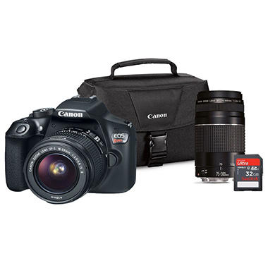 Canon Eos Rebel T6 Dslr Camera Lens Bundle With Ef S 18 55mm Is