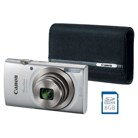 Canon ELPH180 Point & Shoot Camera Bundle with 8x Optical Zoom