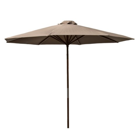 Classic Wood 9-Ft Market Umbrella, Assorted Colors