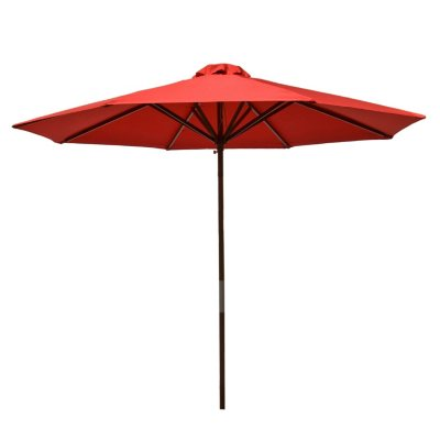 Classic Wood 9 Ft Market Umbrella, Assorted Colors