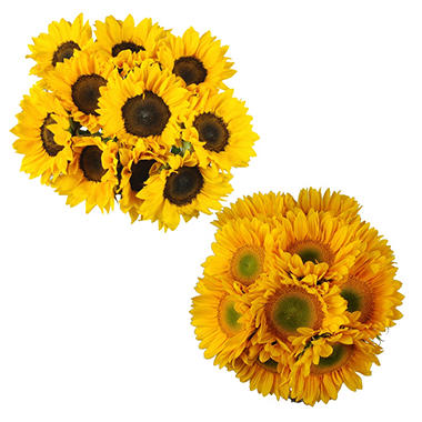 Mini Sunflowers, Yellow (100 stems)