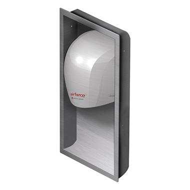 World Dryer Airforce Hand Dryer Recess Kit, Stainless Steel (15 x 4 x 25)