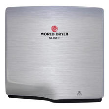 World Dryer SLIMdri Brushed Stainless Steel Hand Dryer