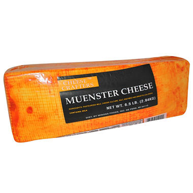 Cheese Crafters Red Rind Muenster Loaf (6.5 lbs.)