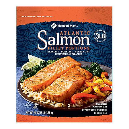 Fresh Salmon Fillet Boneless Skinless