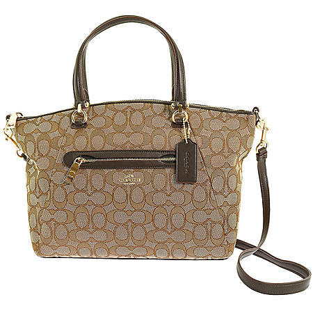 Signature Brown Prairie Satchel by COACH