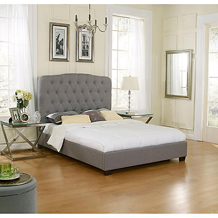 Lila Upholstered Platform Bed (Assorted Sizes)