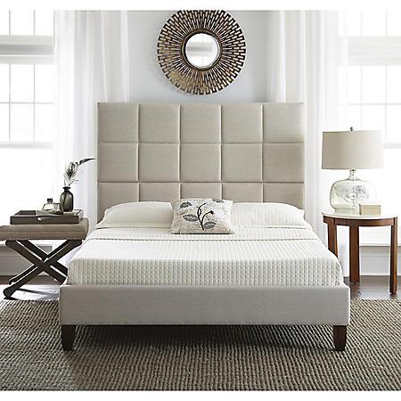 Lisa Upholstered Platform Bed (Assorted Sizes)