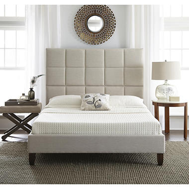 Lisa Upholstered Platform Bed (Assorted Sizes)