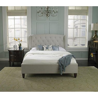 Ella Rose Upholstered Platform Bed (Assorted Sizes)