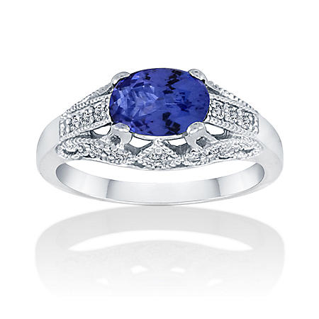 1 ct. Tanzanite & .18 ct. t.w. Diamond Ring