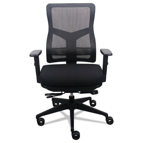 Tempur-Pedic by Raynor 200 Mesh-Back Multifunction Chair, Fabric Seat/Black Mesh Back, Choose a Color