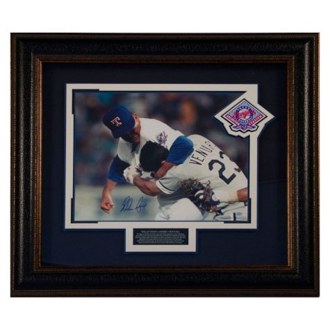 "Nolan Ryan vs. Ventura ""The Fight"" Autographed Photograph"
