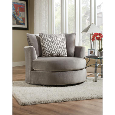 keesling round swivel chair, grey - sam's club