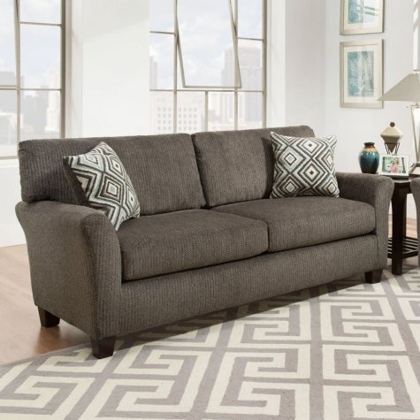 Sofa Smart Fiona Charcoal Sofa With Reversible Accent Pillows