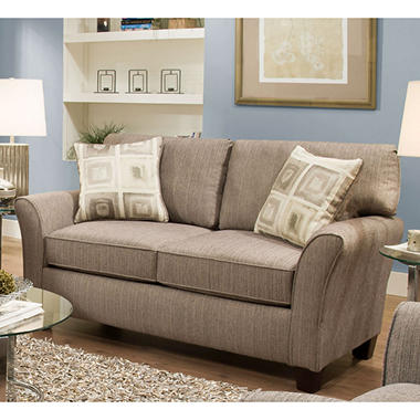 Sofa Smart Cassie Pewter Flared Arm Loveseat