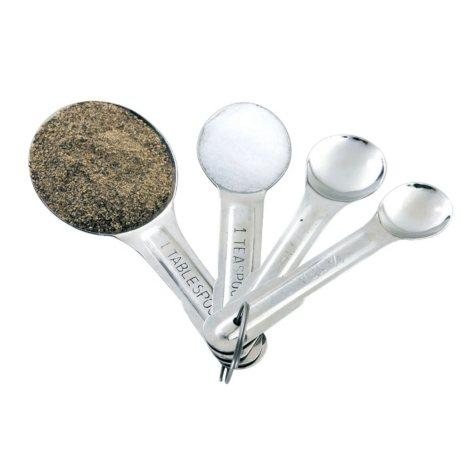 Artisan Metal Works Stainless Steel 4 Piece Measuring Spoon Set