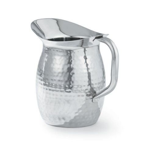 Artisan Stainless Steel Serving Pitcher with Hammered Texture (2 qt.)