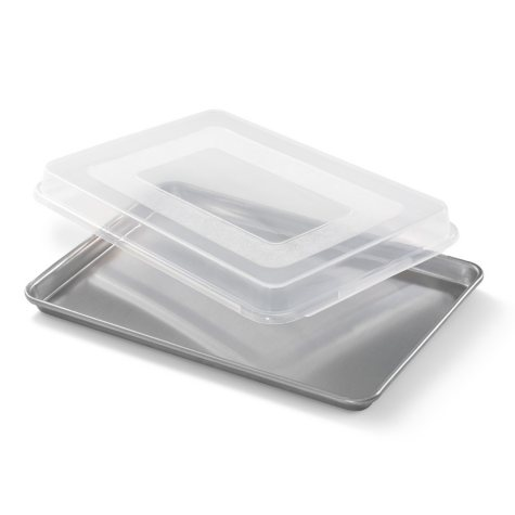 "Artisan Metal Works Half Sheet Pan with Cover (18"" x 13"" x 1)"