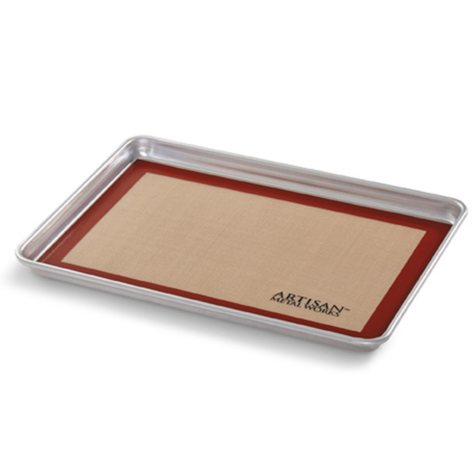 "Artisan Metal Works Half Sheet Pan (18"" x 13"" x 1"") with Silicone Mat"