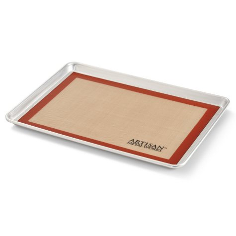 "Artisan Metal Works Two-Thirds Sheet Pan (21"" x 15"" x 1"") with Silicone Mat"