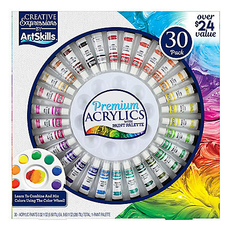Artskills 30 Piece Premium Acrylic Paint Set Sam S Club