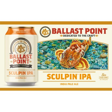Ballast Point Sculpin India Pale Ale (12 fl. oz. can, 6 pk.)