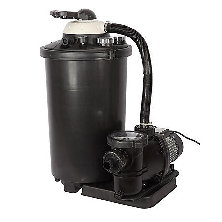 "24"" Sand Filter System with 1.5 HP Pump for Above-Ground Pools"