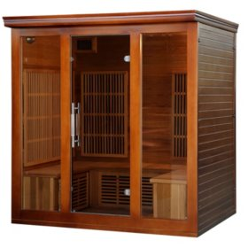 Cedar Elite Premium Sauna with 9 Carbon Heaters: 4-5 Person (BSA1322)