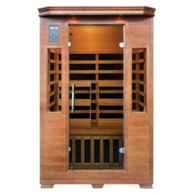 Hemlock Premium Infrared Sauna with 6 Carbon Heaters: 2 Person Capacity (SA3209)