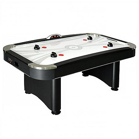 Top Shelf 7' Air Hockey Table w/ LED Electronic Scoring