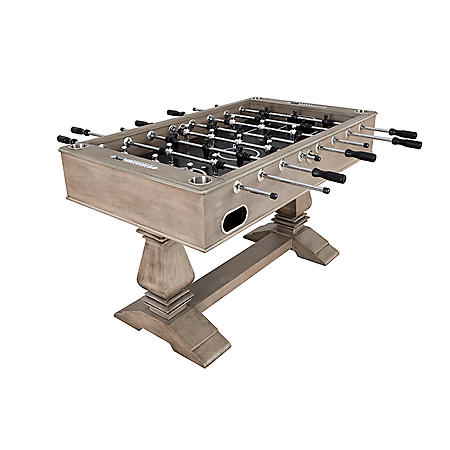 """Montecito 55"""" Foosball Table with Drink Holders and Analog Scoring - Driftwood Finish"""