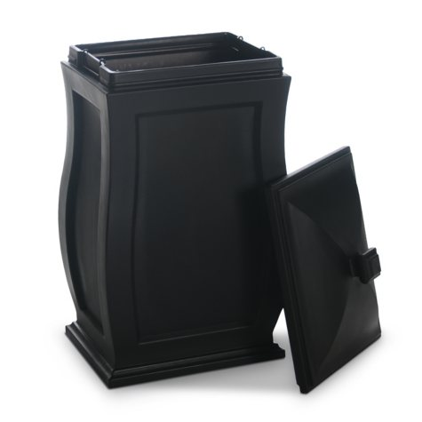 Mansfield Trash Can, Black