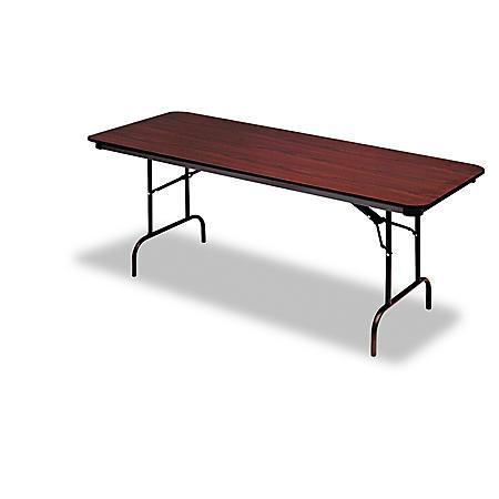 "Iceberg Premium 60"" x 30"" Wood Laminate Folding Table, Select Color"