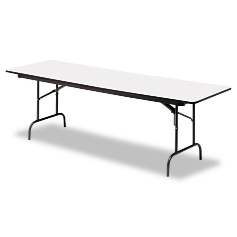 Iceberg Premium 8' Wood Laminate Folding Table, Select Color