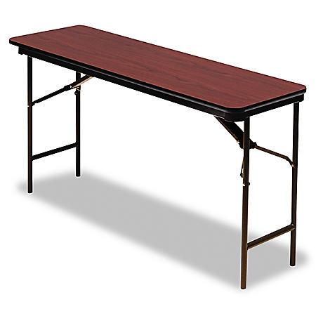 "Iceberg Premium 72"" x 18"" Wood Folding Table, Select Color"