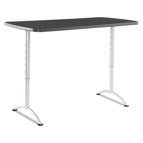 """Iceberg ARC 30"""" Sit-to-Stand Table, Graphite/Silver"""
