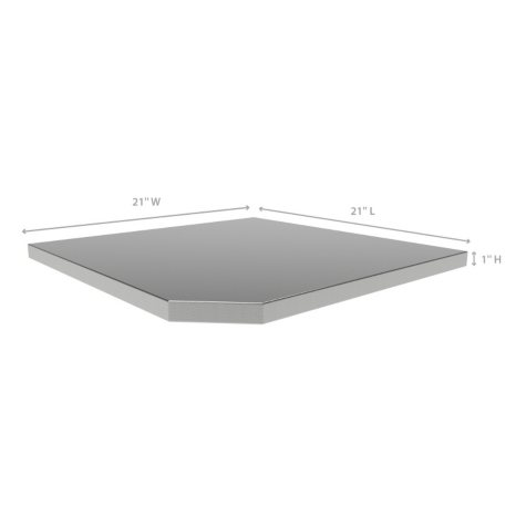 Bold 3.0 & Performance 2.0 Corner Stainless Steel Top (21 x 21 x 1)