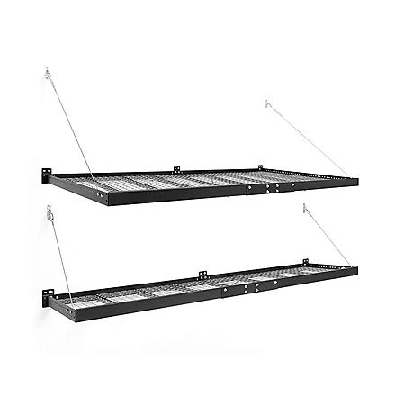 NewAge Products Pro Series 4'x8' and 2'x8' Wall-Mounted Steel Shelf Set