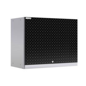 NewAge Products Performance Plus 2.0 Diamond Plate Wall Cabinet (Black)
