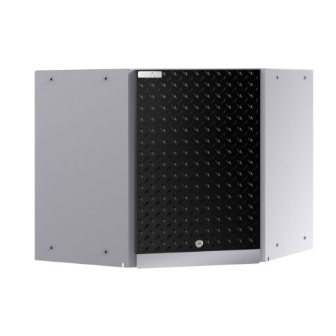 NewAge Products Performance Plus 2.0 Diamond Plate Corner Wall Cabinet (Black)