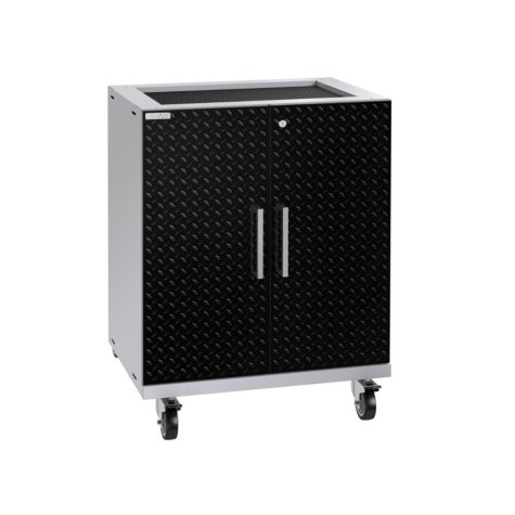 NewAge Products Performance Plus 2.0 Diamond Plate Base Cabinet (Black)