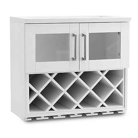 NewAge Products Home Bar Wall Wine Rack Cabinet - (Various Options)