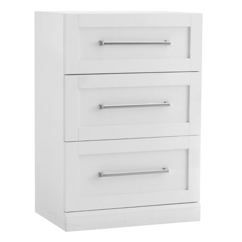 NewAge Products Home Bar 3-Drawer Base Cabinet (White)