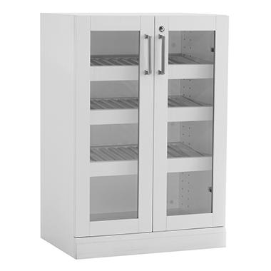 NewAge Products Home Bar Glass-Door Base Cabinet (White)