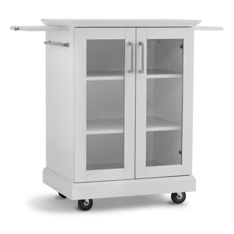NewAge Products Home Bar Rolling Cart (White)