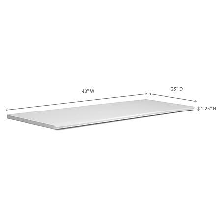 """NewAge Products Home Bar 48"""" x 25"""" Countertop - (White or Espresso)"""